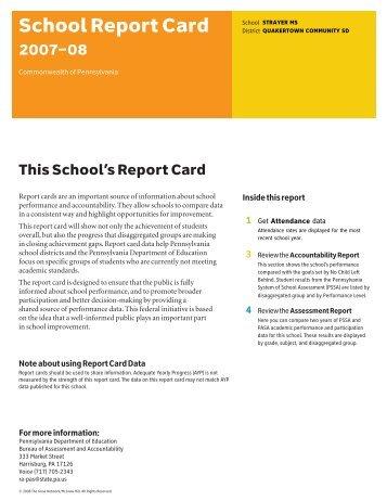 School Report Card - Quakertown Community School District