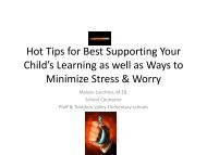 Hot Tips for Best Supporting Your Child's Learning as well as Ways ...