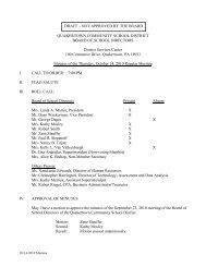 10-14-10 Minutes - Quakertown Community School District