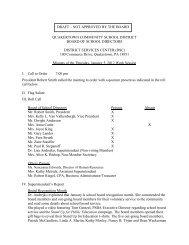 1-5-12 Minutes - Quakertown Community School District