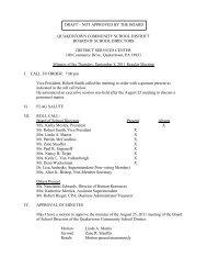 9-8-11 Minutes - Quakertown Community School District