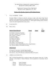 Minutes 8-11-05 - Quakertown Community School District