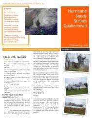 Hurricane Sandy Strikes Quakertown