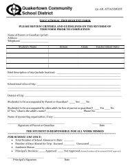 Educational Trip Request Form - Quakertown Community School ...