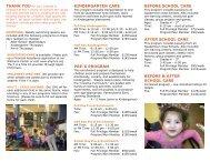 kindergarten care pre-k program before school care after school ...