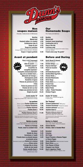 Nos Our soupes maison Homemade Soups Avant et pendant Before ...