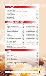 menu petit-déjeuner - QDG.ca