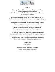 ENTREES Pieuvre grillée, tombée de tomates confites ... - tarantella.ca