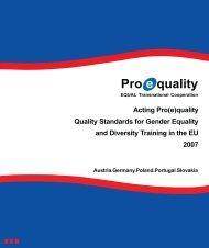 Quality Standards for Gender Equality and Diversity Training - Cite