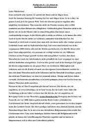 Predigt am 21. / 22. Januar in Stollhofen und Schwarzach Liebe ...