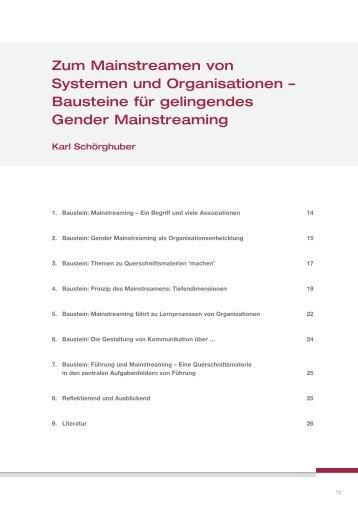 Zum Mainstreamen von Systemen und Organisationen – Bausteine ...
