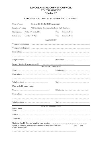 Boot Camp Consent and Confidential Medical Information Form