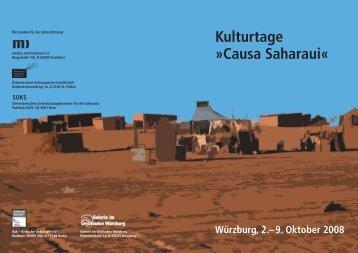 Kulturtage »Causa Saharaui« - Arso