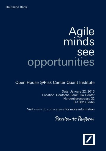 Open House at the Risk Cent - Qfl-berlin.com