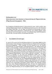 Stellungnahme zum Referentenentwurf des Pflege ...
