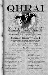 Saturday, January 7, 2012 - QHRAI