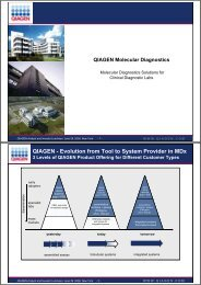 QIAGEN - Evolution from Tool to System Provider in MDx