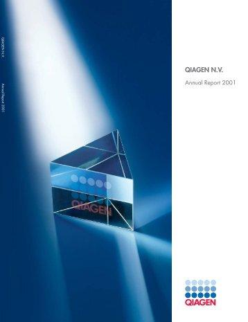 QIAGEN N.V. Annual Report 2001