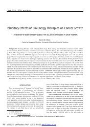 Inhibitory Effects of Bio-Energy Therapies on ... - Qigong Institute