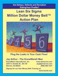 Lean Six Sigma Action Plan 2012.p65 - QI Macros for Excel