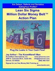 Six Sigma Action Plan - QI Macros for Excel