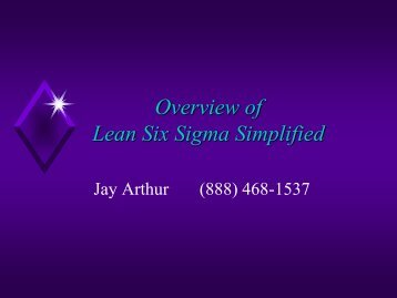 Overview of Lean Six Sigma Simplified - QI Macros for Excel