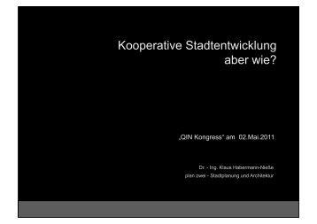 Kooperative Stadtentwicklung aber wie? - QiN - Quartiersinitiative ...