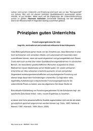 Prinzipien guten Unterrichts - QIS