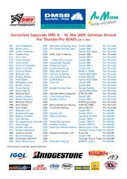 Starterliste Superside WM, 8. - Art Motor