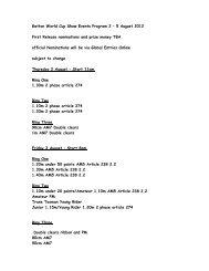 Gatton World Cup Show Events Program 2 – 5 August 2012 First ...