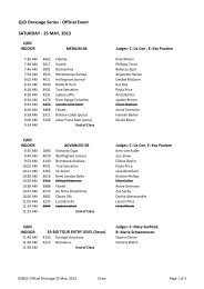 QLD Dressage Series - Official Event SATURDAY - 25 MAY, 2013