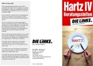 Flyer für alle Hartz IV - Beratungsstellen der ... - DIE LINKE. Pankow