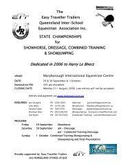 Program - Equestrian Queensland