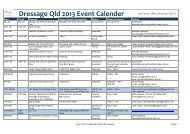Dressage Qld 2013 Event Calender