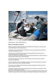 Adrian Finglas Report 10 - Yachting Queensland - Yachting Australia