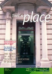 Time and Place Issue 24 Spring 2010 - Queensland Heritage Council