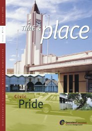 Time and Place Issue 13 Autumn 2006 - Queensland Heritage Council