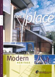 Time and Place Issue 1 Spring 2001 - Queensland Heritage Council