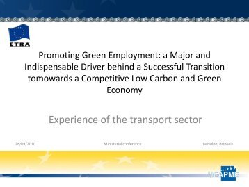 Experience of the transport sector - the European Twowheel ...
