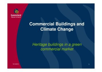 Commercial Buildings and Climate Change - Queensland Heritage Council