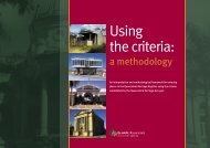 Using the criteria: a methodology - Queensland Heritage Council