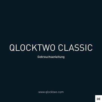 Bedienungsanleitung Qlocktwo Classic