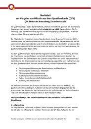 Merkblatt QF 1 ZKO - qm zentrum kreuzberg / oranienstrasse