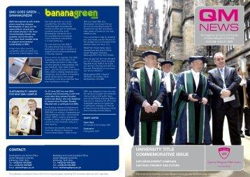 QM News 66 (pdf 2976KB) - Queen Margaret University