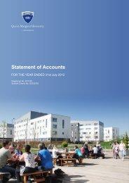 Statement of Accounts 2012 - Queen Margaret University
