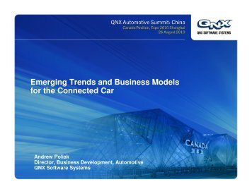 Emerging Trends and Business Models for the Connected Car