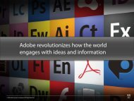 Adobe revolutionizes how the world - QNX Software Systems