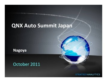 Challenges facing the global auto - QNX Software Systems