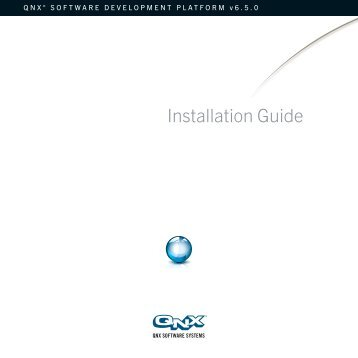 QNX Software Development Platform Installation Guide [6.5.0]