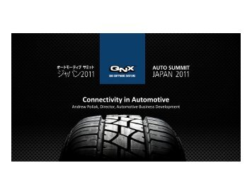 Connectivity in automotive_en.pptx - QNX Software Systems